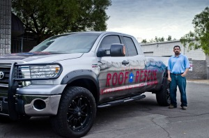 AZ Roofer Alan Monzon With His Truck